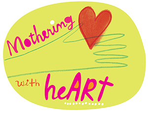 Mothering with heART badge