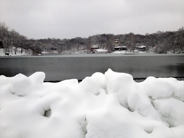 snow on lake 1